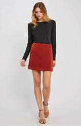 Roselle Mini Skirt {Ruby}