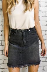 Sidewalk Cutoff Skirt {Blk}