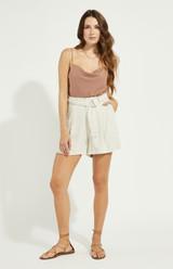 Alpha Linen Shorts {Cream}