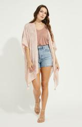Ledger Kimono {Pink Palm}