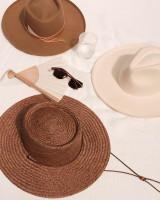 The Vienna Straw Hat {Brown}