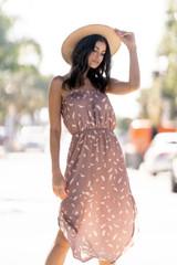 Lunna Midi Dress {Caramel}