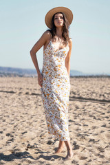 Sharice Midi Dress {Pearl}