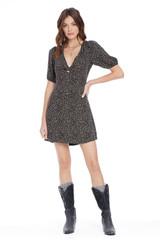 Cameron Mini Dress {Blk Dot}