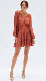 Susa Mini Dress {Rust}