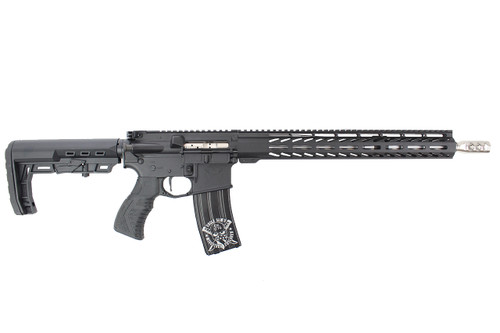 "'Chesty Series ' .223 Wylde 16"" Stainless Steel Match Grade Complete Rifle / 1:8 Twist / 15"" MLOK / Black"