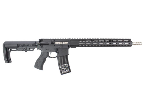 "'Patton Series' .223 Wylde 16"" Stainless Steel Match Grade Complete Rifle / 1:8 Twist / 15"" MLOK / Double Bar / Black"