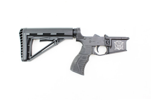 USMC logo'd Lower Receivers With Achilles Stock