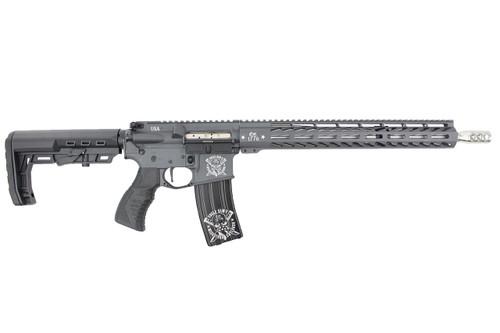 "Colorado 'Patton Series' .223 Wylde 16"" Stainless Steel Match Grade Complete Rifle / 1:8 Twist / 15"" MLOK / Ambi CH / Sniper Grey / 5RD Mag"
