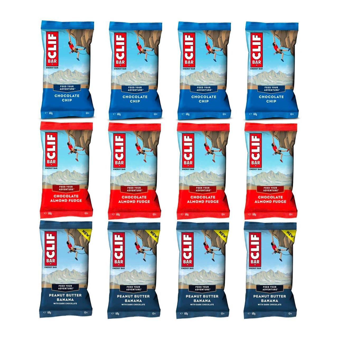 Clif Bar Energy Bar (12 Pack - 3 Flavours)