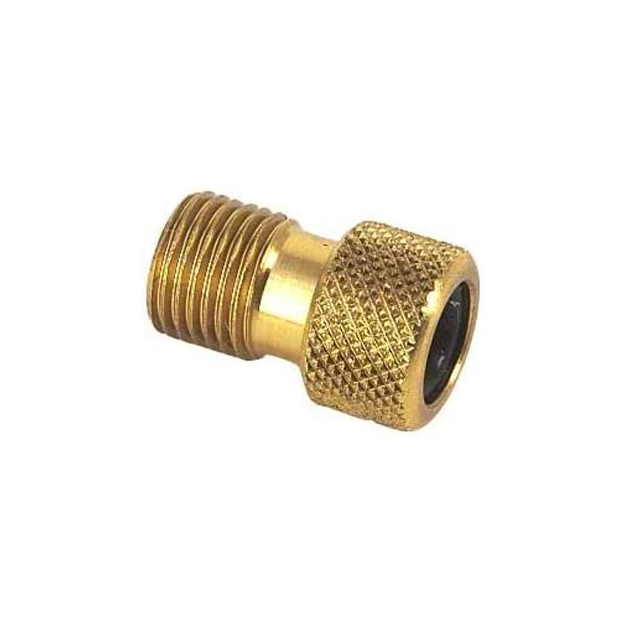 Weldtite MK2 Brass Presta to Schrader Adaptor with O Ring