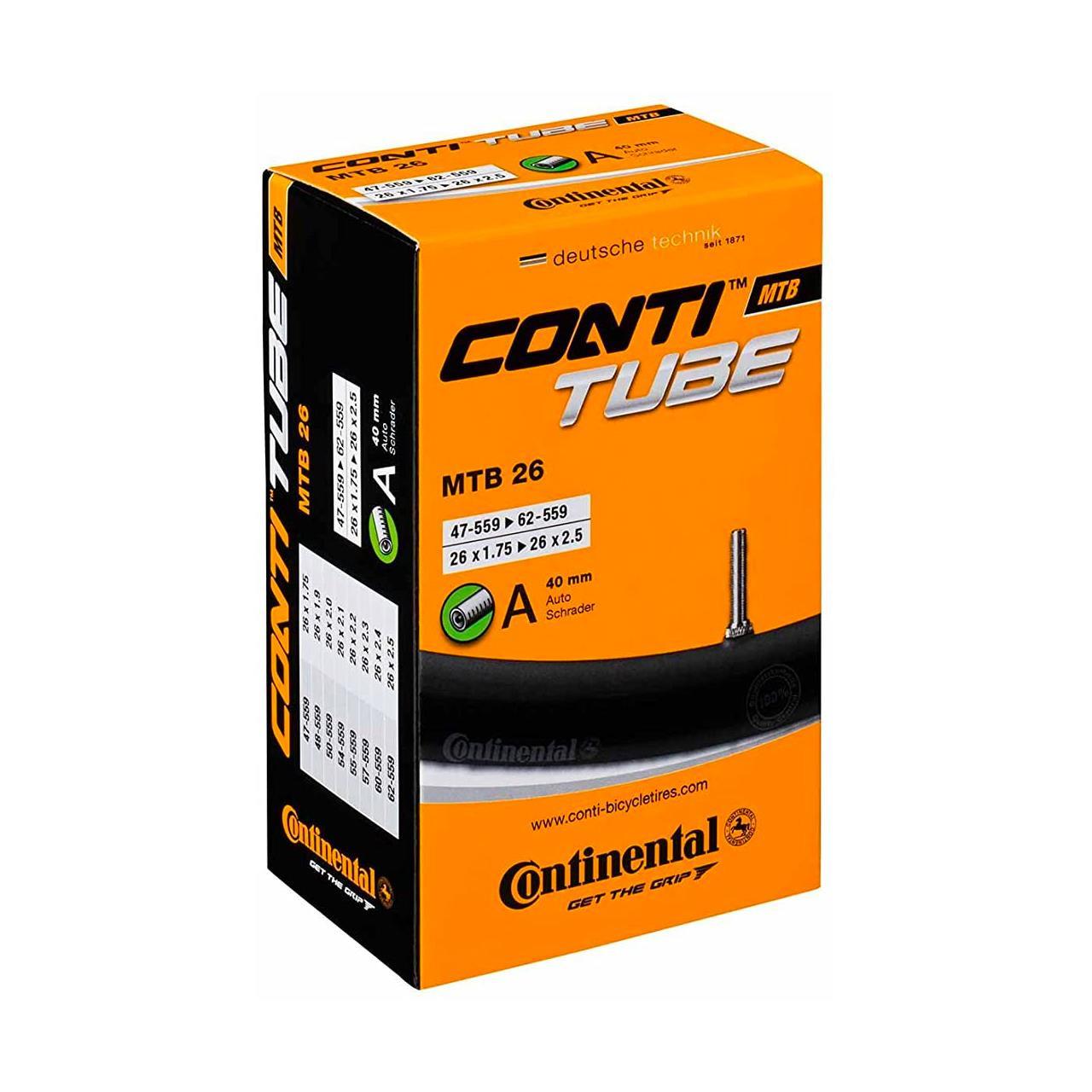 Continental Inner Tube (Schrader Valve MTB 26 X 1.75 - 2.5 inch)
