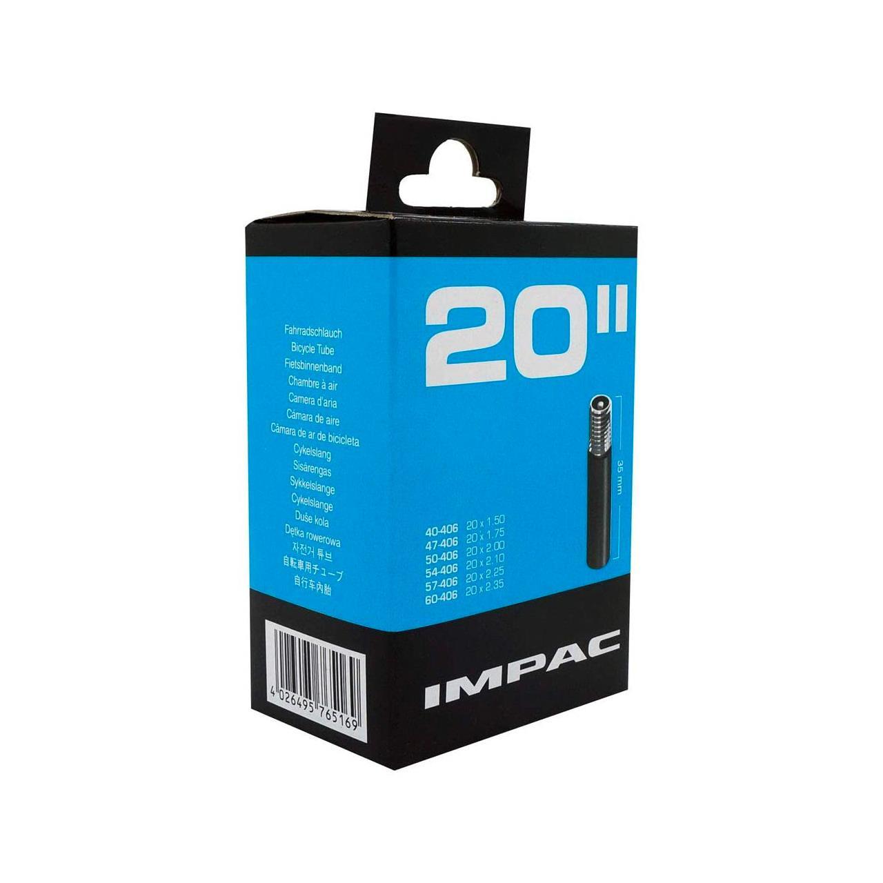 Impac AV20 Inner Tube (20 x 1.75 / 2.125'', Schrader)