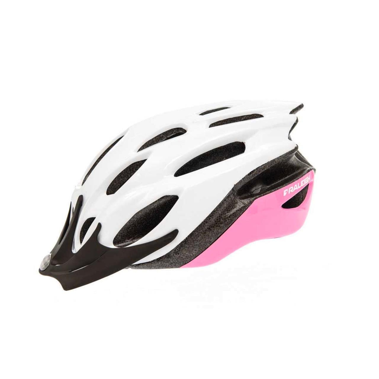 Raleigh Mission EVO Cycle Helmet (Pink/White - Medium, 54-58cm)