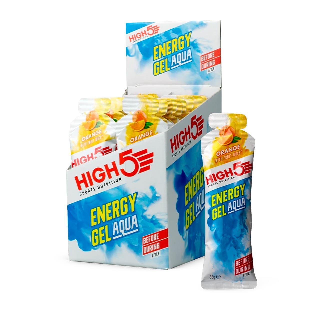 High5 Energy Gel Aqua, 20 Pack (Orange)