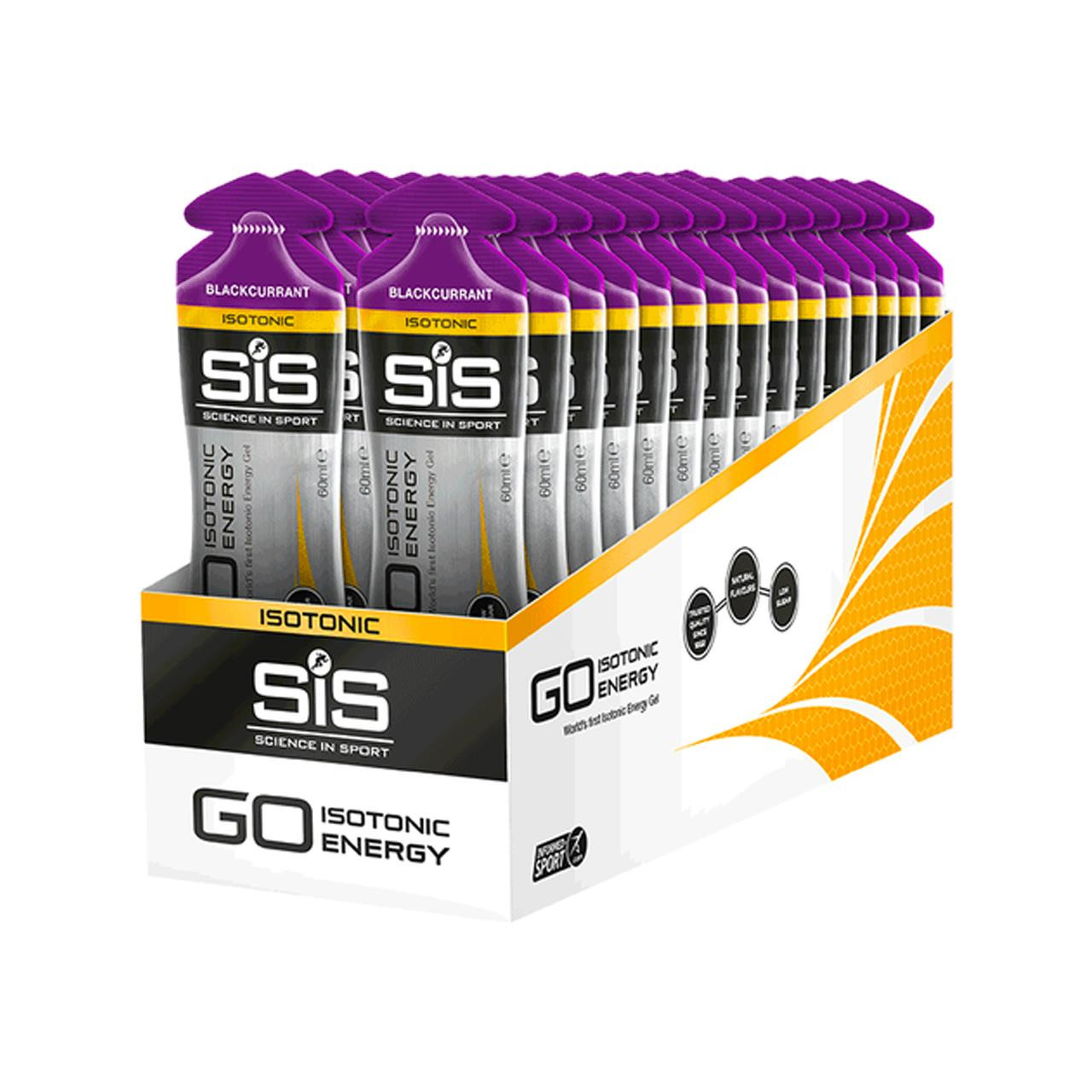 Science In Sport GO Isotonic Gel, 30 Pack (Blackcurrant)