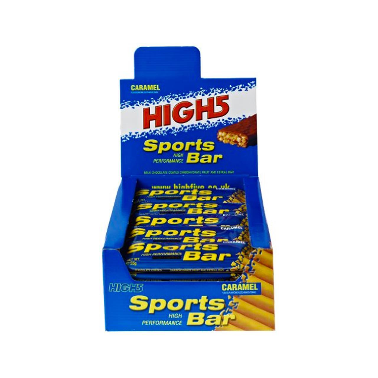 High 5 Sports Bar, 25 Pack (Caramel/Choc)