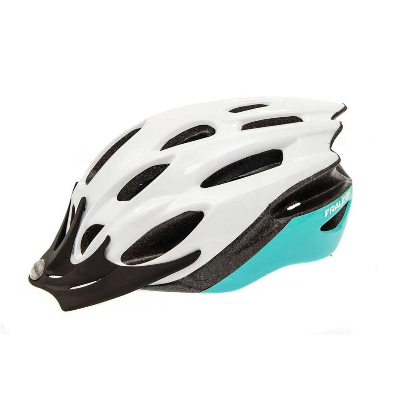 Raleigh Mission Evo Cycle Helmet (White and Green, 58-62cm)