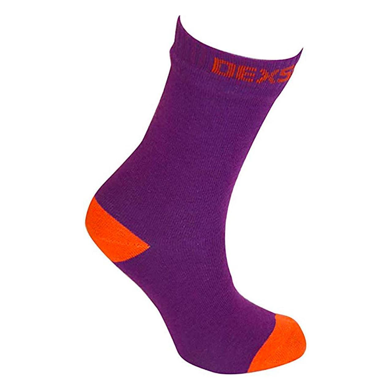 Dexshell Ultra Thin Sock (Large, Purple/Orange)