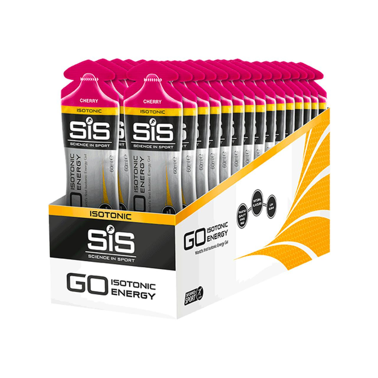 Science In Sport GO Isotonic Gel, 30 Pack (Cherry)