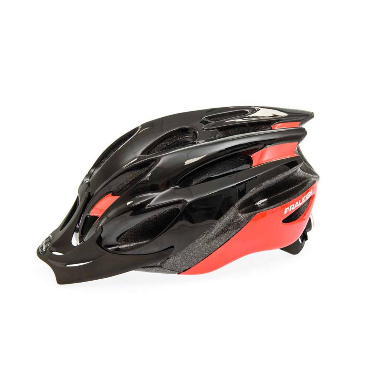 Raleigh Mission Evo Helmet (Black and Red, 54-58cm)