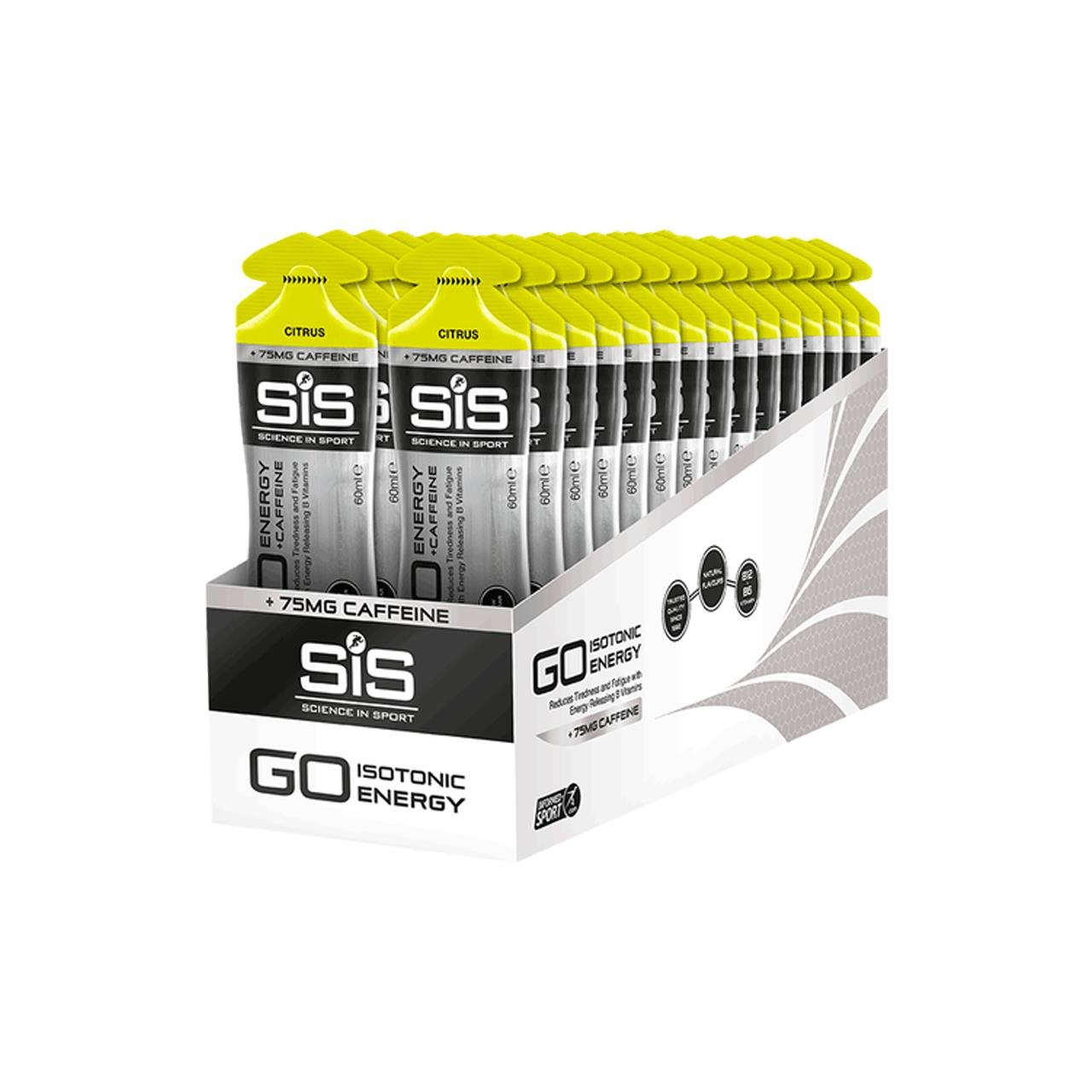 Science In Sport GO + Caffeine Gel, 30 Pack (Citrus)