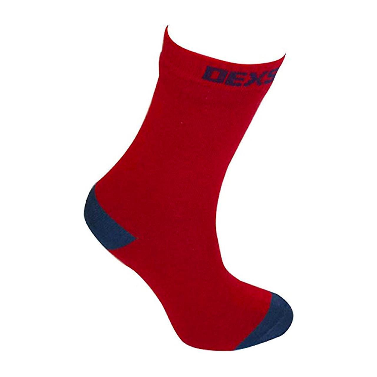 Dexshell Ultra Thin Sock (Red/Navy, Large)