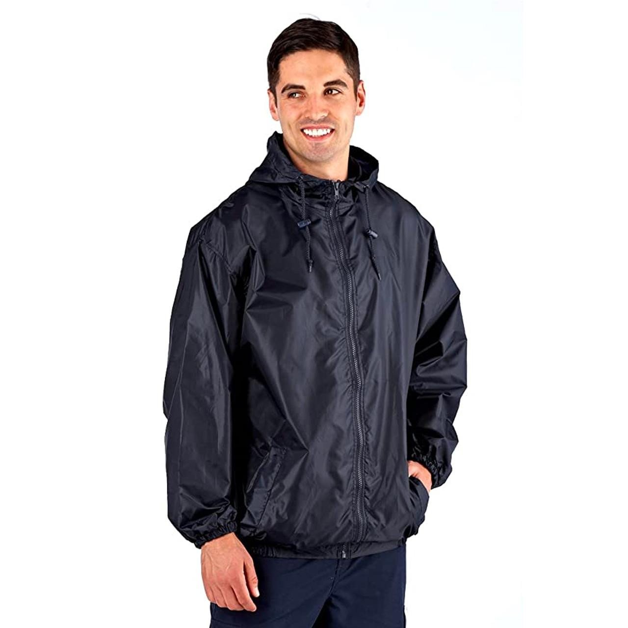 ProClimate Mens Pack-A-Kag Festival Coat (Navy, Small)