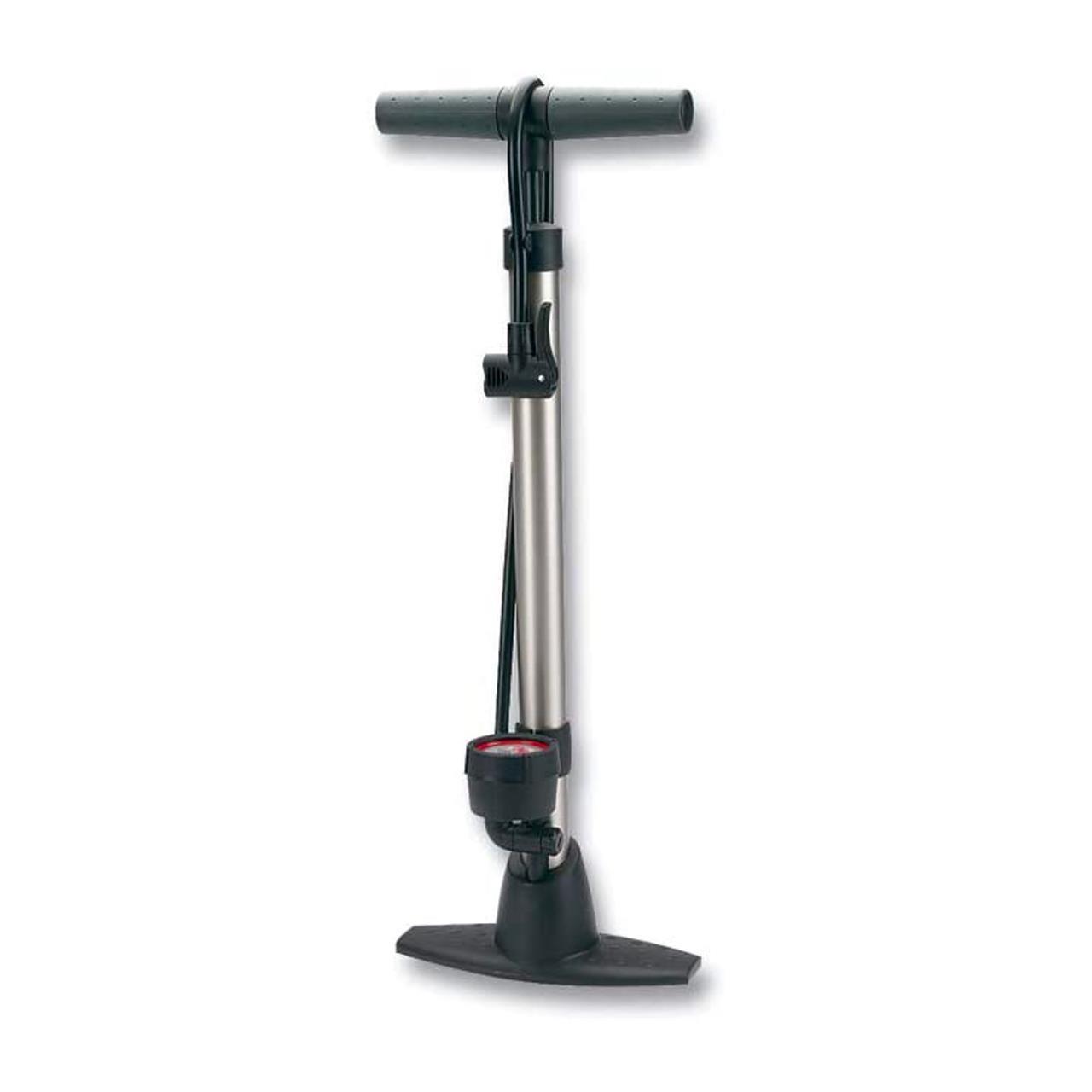Raleigh RMJ513 Floor Pump (Silver/Grey)