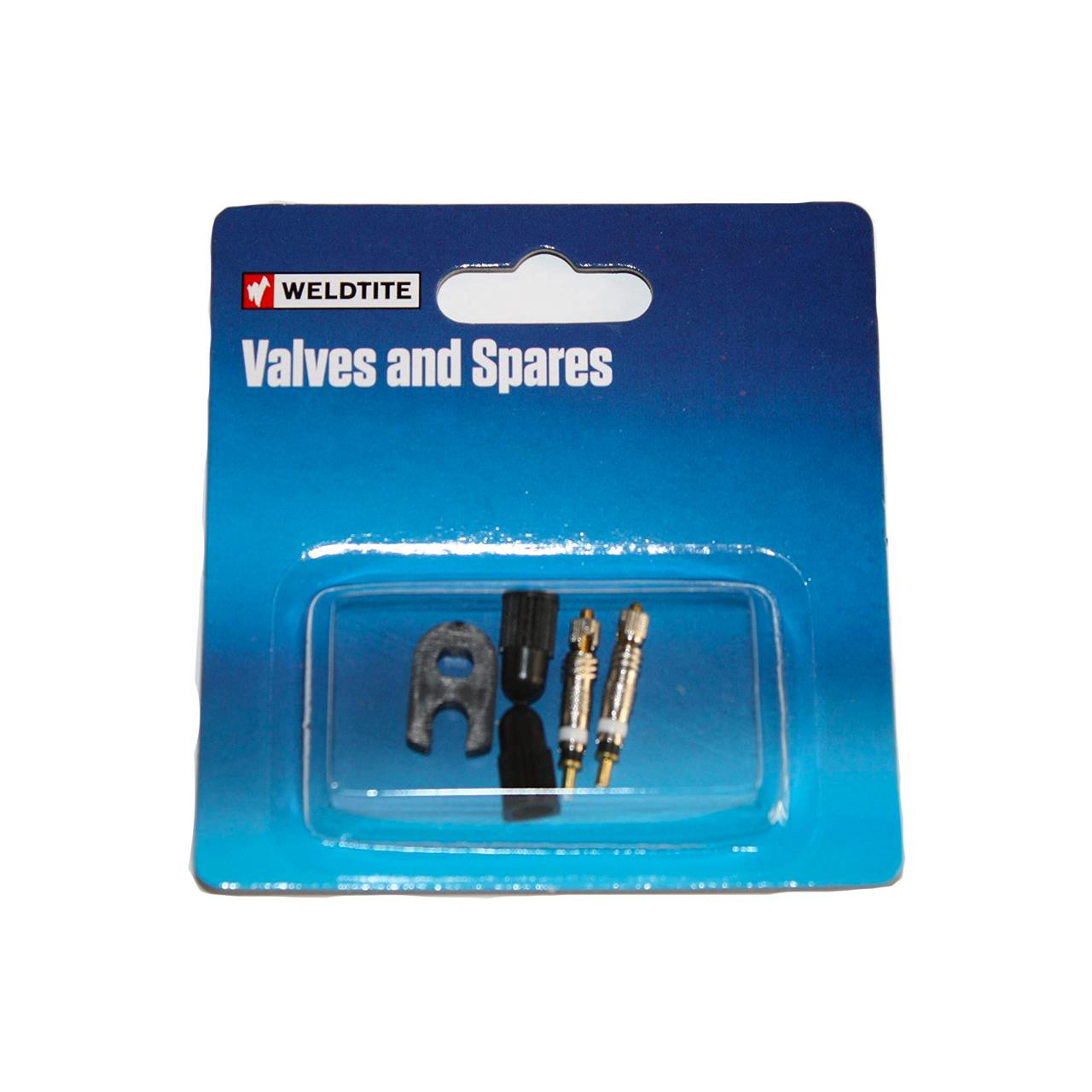 Weldtite Presta Valve Core & Caps Kit (Pack of 2)