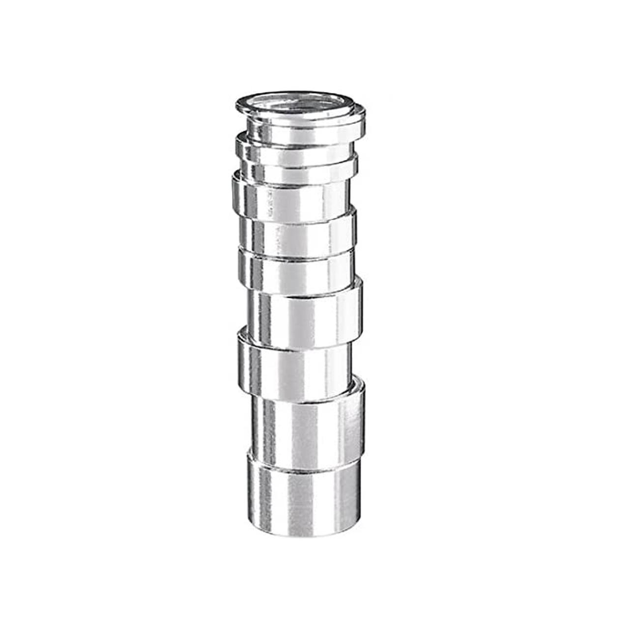 Ergotec 1'' Alloy Spacers (5mm, Silver)