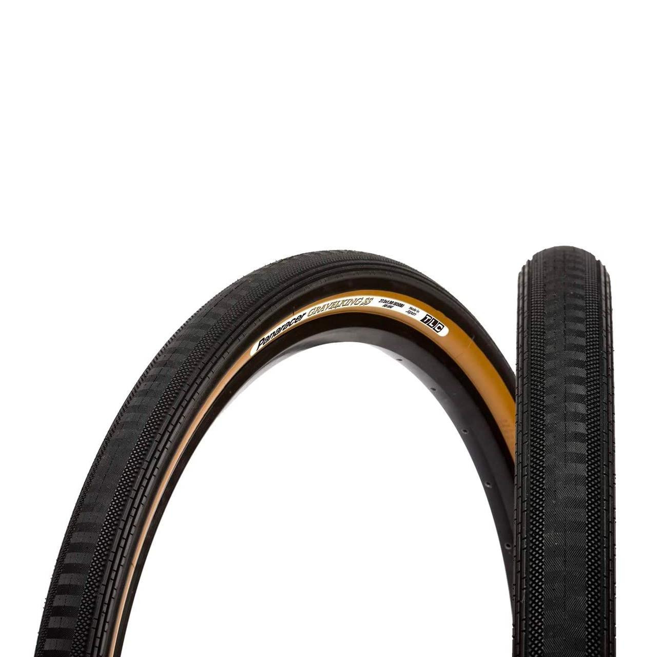 Gravel King Semi Slick TLC Tyre (700 X 38 C, Black/Brown)