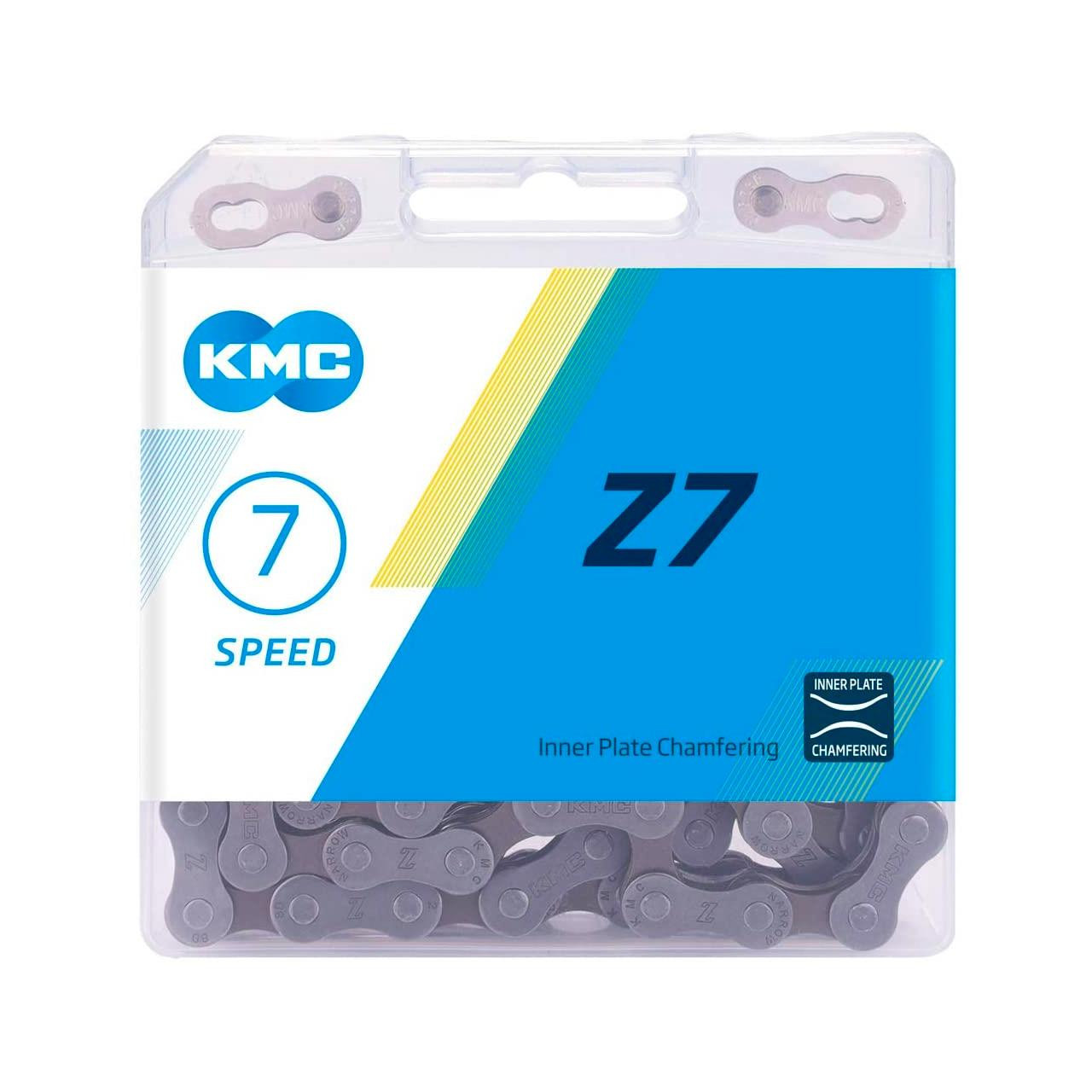 KMC Z7 Chain, Grey/Brown (114 Link)