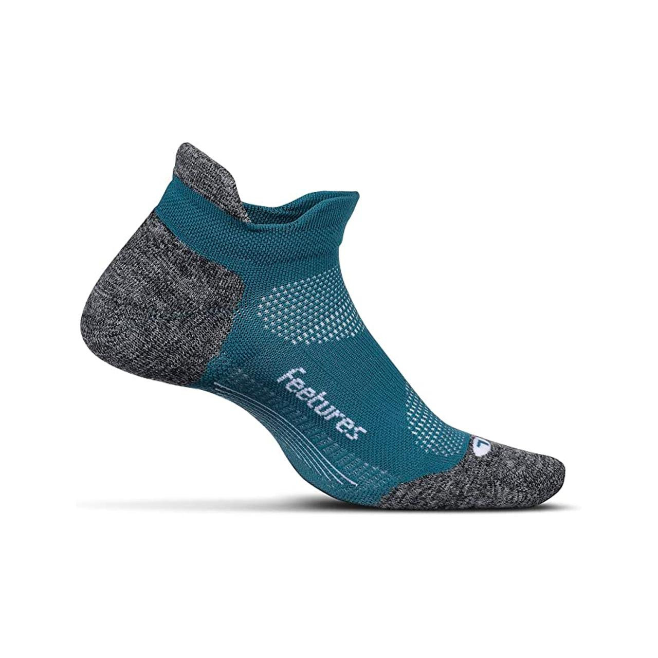 Feetures Elite Light Cushion Running Socks (Emerald, Small)