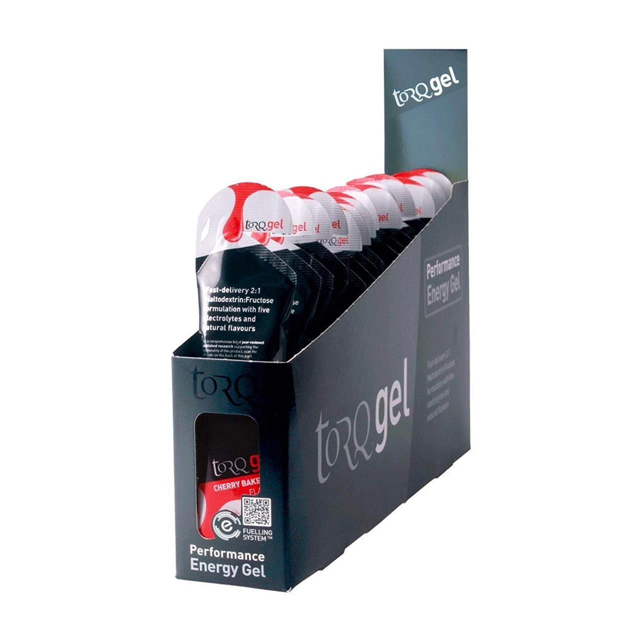 TORQ Energy 45g Gel, 15 Pack (Cherry Bakewell)