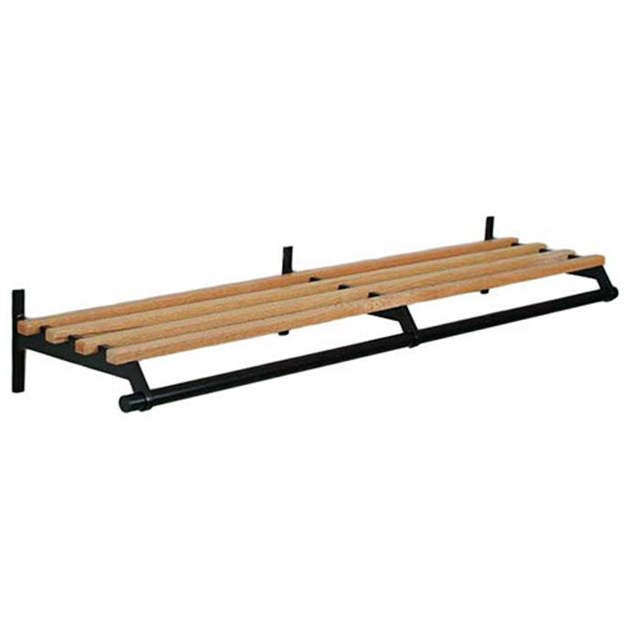 Unlimited Wall Wooden Coat Rack with Hanger Rod 102 Series - Image to Illustrate Design, Not to Scale
