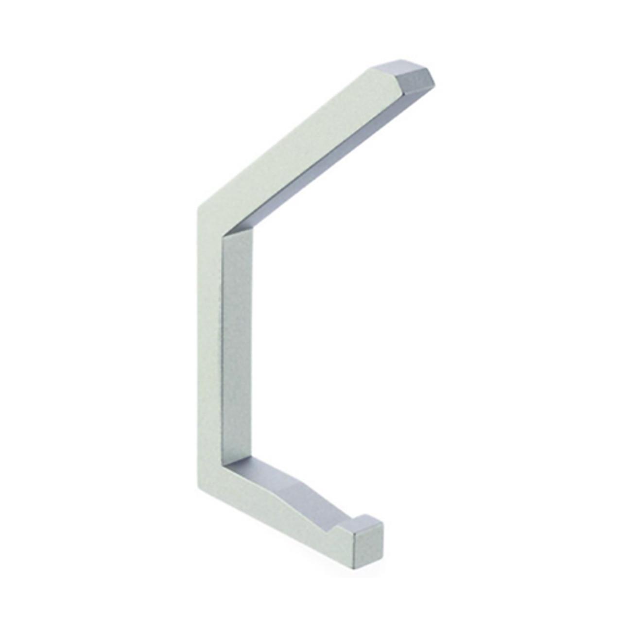 342-213 Double Prong Coat Hook in Metallic Silver