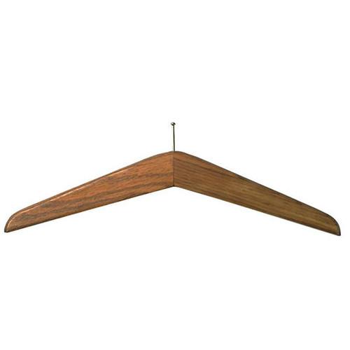 Wood Anti-Theft Ball Top Coat Hanger - 114-001 - Medium Oak