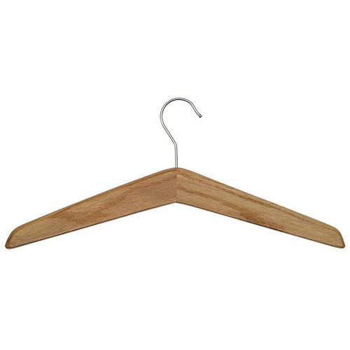 Wood Open Hook Coat Hanger - 114-002 - Medium Oak