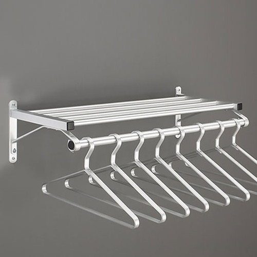 201 Series Modular Wall Coat Rack with Hanger Rod - Image Illustrates Design, Not to Scale - Hangers Sold Separately