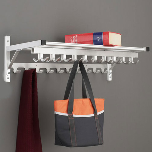 Modular Wall Coat Rack with Hooks - 203 Series - Image Illustrates Design, Not to Scale