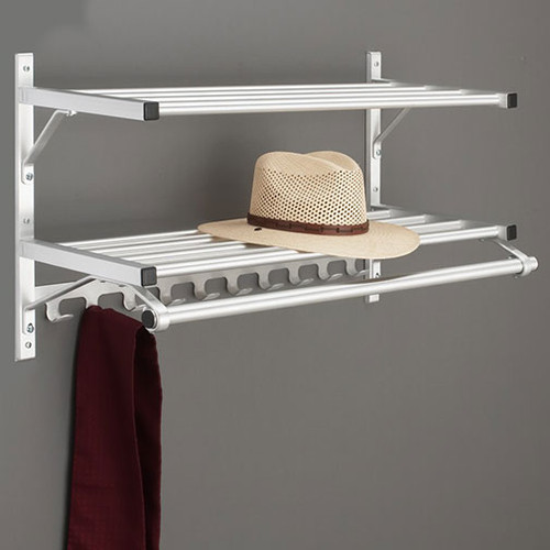 205 Series Modular Coat Rack with Coat Rod and Coat Hooks - Please Note: Image Illustrates Overall Design, Not to Scale