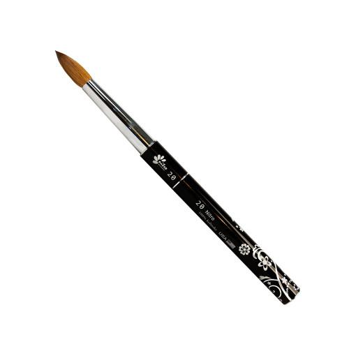 NITRO - Acrylic Kolinsky Nail Brush #6 (Black)