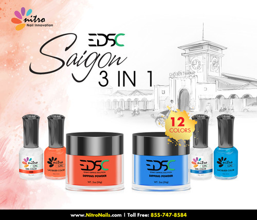 EDSC Saigon 3-in-1 Set (Dipping + Gel + Polish) - 12 Colors