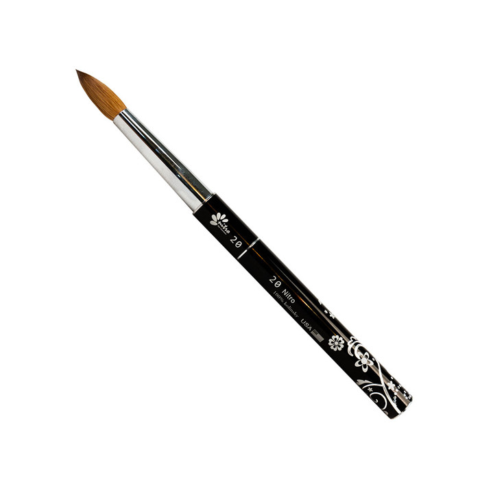 NITRO - Acrylic Kolinsky Nail Brush #16 (Black)