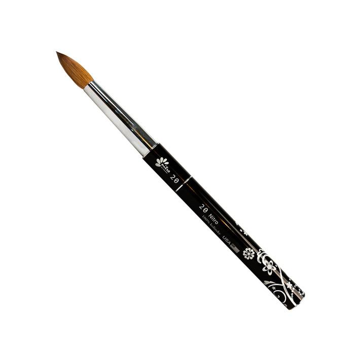 NITRO - Acrylic Kolinsky Nail Brush #20 (Black)