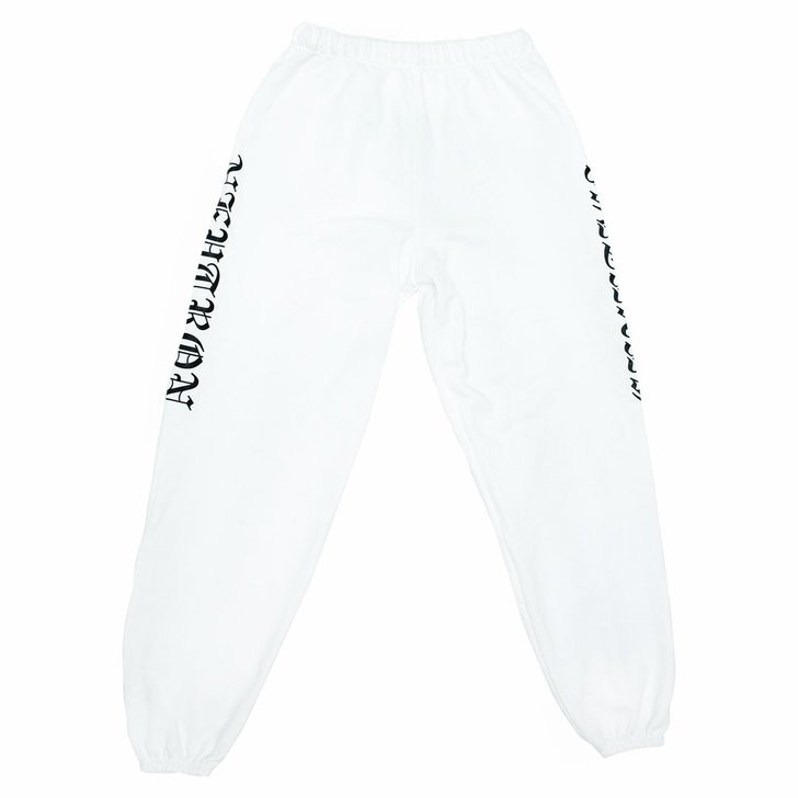 White Unisex Sweatpants