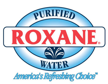 Roxane Purified Drinking Bottled Water, 1 case of 24 bottles