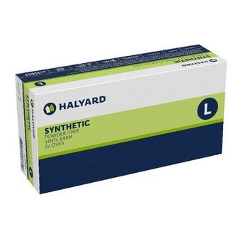 Halyard Synthetic Powder-Free Vinyl Exam Gloves - Large (100 Count)