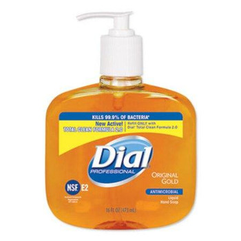 Dial Professional Gold Antimicrobial Liquid Hand Soap, Floral, 16 oz
